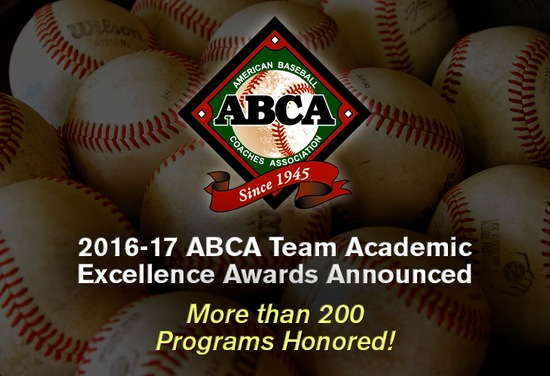 2016-17 ABCA Team Academic Excellence