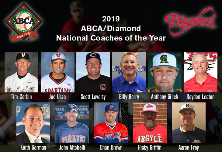 2019 ABCA/Diamond National Coaches of the Year