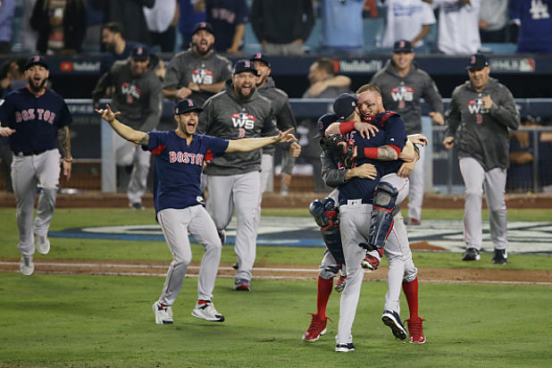 Red Sox's Celebrating